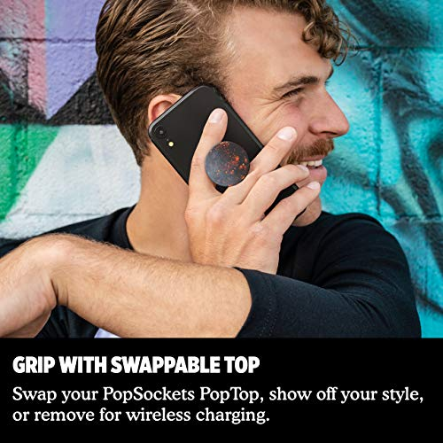 PopSockets PopGrip – Expanding Stand and Grip with Swappable Top – Dark Star