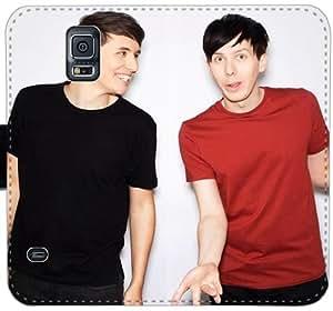 Dan y Phil Y8W3U Funda Samsung Galaxy Note caja de la carpeta de cuero Funda 4 365 248 Diseño funda caso del tirón del teléfono
