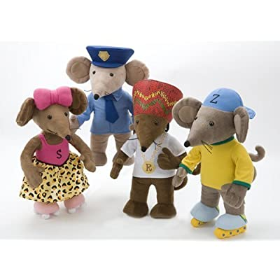 """13.5 """"Rastamouse Peluches - Set de 4 - Rastamouse, Scratchy, Zoom + Wensly Dale"""