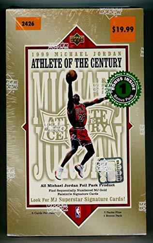 1999-00 Upper Deck Michael Jordan Athlete of the Century Sealed Basketball Hobby Box (1999 Michael Jordan Upper Deck)