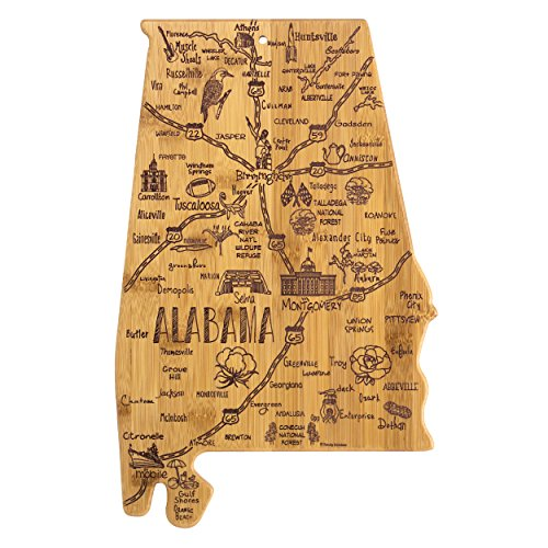 Totally Bamboo Alabama State Destination Bamboo Serving and Cutting Board ()