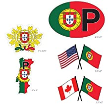Portugal set of vehicle stickers. Great gift idea for your friend or family member perfect for outdoor or indoor use.