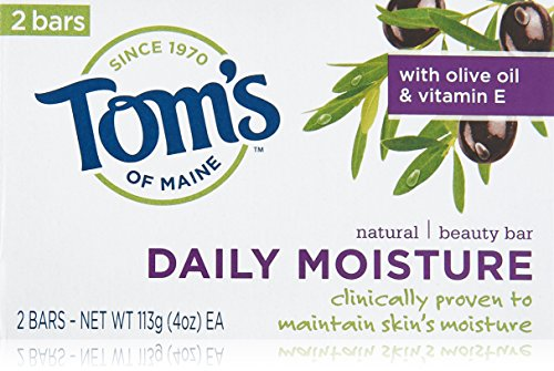 Toms Of Maine Natural Soap (Tom's of Maine Moisturing Bar Daily Moisture Natural Beauty Bar Soaps, 2 Count)