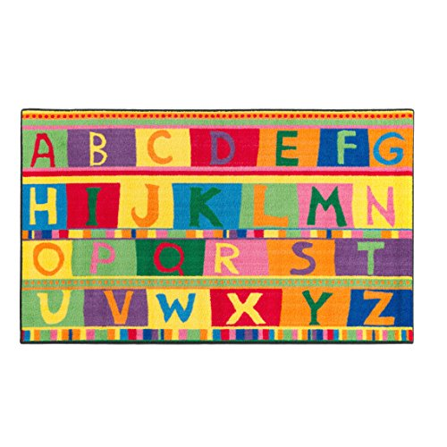 Flagship Carpets CE192-16W ABC Tapestry, Children s Educational Classroom Rug, 3 x5 , Rectangle
