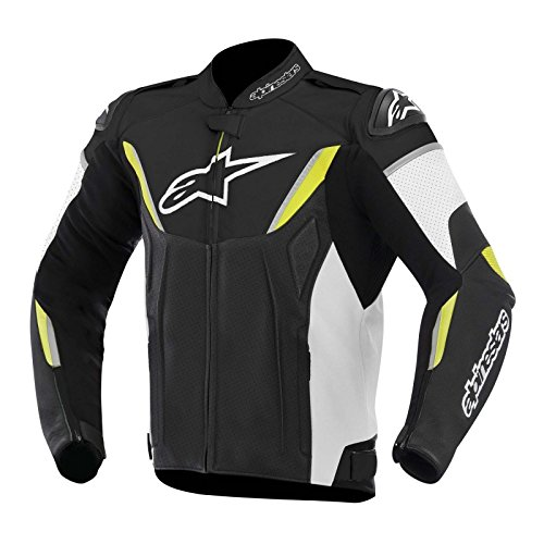 ALPINESTARS GP-R Perforated Jacket Leather Black/Yellow/White X-Large