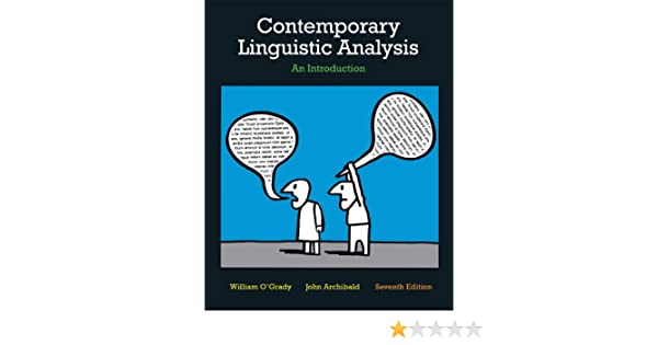Amazon contemporary linguistic analysis an introduction amazon contemporary linguistic analysis an introduction seventh edition with companion website 7th edition 9780321753687 william ogrady fandeluxe Choice Image
