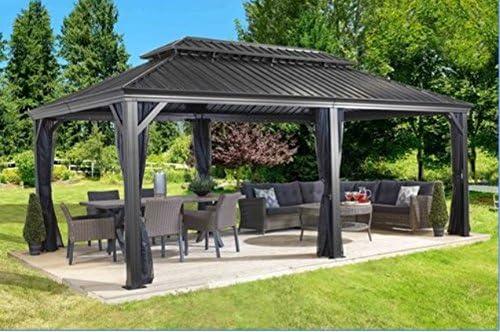 Sojag Messina Galvanized-Steel-Roof Sun Shelter 12'