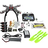 QWinOut Full Kit Unassembly ARF DIY APM2.8 GPS 2.4G 6CH FS-i6 Remote Drone Combo RC Fiberglass Frame Quacopter 1400KV Motor 20A ESC Can Upgrade to FPV