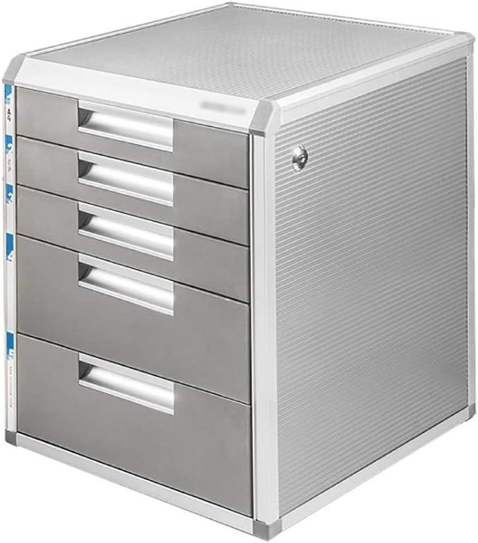 オフィスのファイルストレージA4情報メタルキャビネット棚に適したロックアルミ合金マルチレイヤを備えたデスクトップファイルキャビネット (Size : 315×350×405mm)
