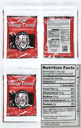 (2-PAK Natural Hog Pork Sausage Stuffing Stuffer Casings Casing)