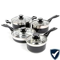 Oster Cramerton 8 Piece Cookware Set, Black