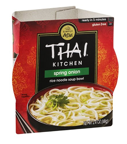 Spring Onion Noodle - Thai Kitchen Rice Noodle Soup Bowl, Spring Onion, 2.4 Ounce (Pack of 6)