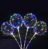 5-Pack BoBo LED Lighted Balloon with Air Inflator Pump, Multi-Colored ¡