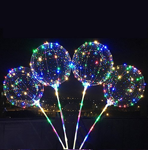 5-Pack BoBo LED Lighted Balloon with Air Inflator Pump, Multi-Colored ¡­