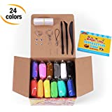 Sago Brothers Modeling Clay Air Dry Ultra Light Molding Magic Clay 24 Colors, Best Kids Gifts Ever