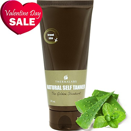 Organic Self Tan Lotion 3 oz for Traveling. Bronzing on the go! Ultra Natural Glow Face & Body Tanner. Men & Women Tanners. Gradual Subtle to Dark Sunless Fake Tanning. Express Self-Tan Beauty Lotions (Dream Tan Formula)
