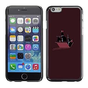 Caucho caso de Shell duro de la cubierta de accesorios de protección BY RAYDREAMMM - iPhone 6 - Barco de guerra