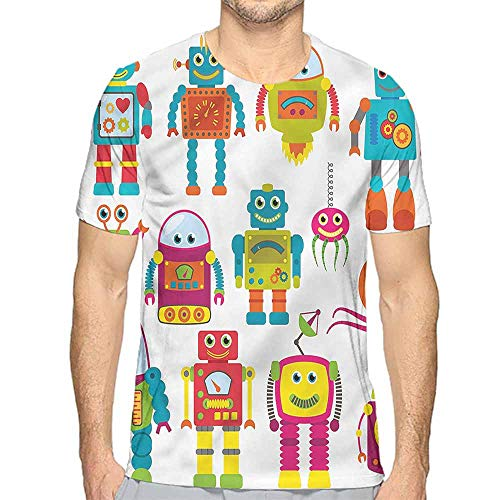 Jinguizi t Shirt Boys Room,Smiling Faces Aliens Printed t Shirt -