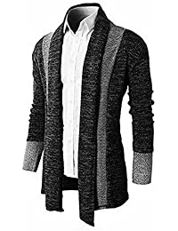 """<span class=""""a-offscreen"""">[Sponsored]</span>Yisqzjzj Mens Silm Fit Color Blocked Open-Front Casual Cardigan"""