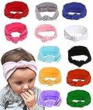 12Pack Baby Cute Headband Headwraps Knot Headbands for Baby Girls Baby Head Wrap Baby Turban Headbands