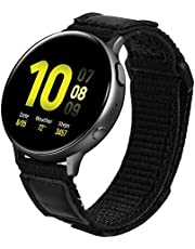 V-Moro Nylon Strap Compatible with Galaxy Watch 42mm Bands/Active2 40mm 44mm Band Men 20mm Soft Breathable Woven Loop Replacement for Samsung Galaxy Watch Active 40mm 44mm