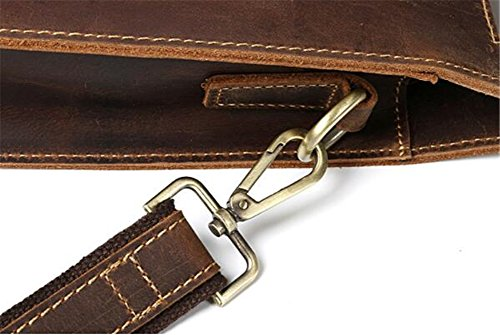 darkbrown Men's Anuan Leather Cowhide Sole Bag xqxXZP0