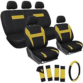 Amazon.com: OxGord 17pc Flat Cloth Mesh Seat Cover Set - Universal