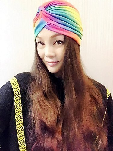 Rainbow Elastic Turban,Womens Turban,Full Turban,Turban Headband,Turban Hat,