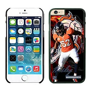 NFL Denver Broncos Wesley Woodyard Case Cover For Apple Iphone 6 4.7 Inch Black NFL Case Cover For Apple Iphone 6 4.7 Inch 12687