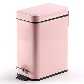 Amazon.com: Topgalaxy.Z Papelera de cocina de 5 litros, lata ...