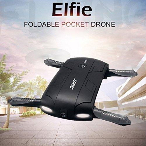 JJRC H37 Pequeño WiFi FPV GPS Gravedad Drones Quadcopter con cámara HD Grabación de video en vivo + Grabación + Gyro de 6 ejes + Modo de altura sin cabeza + 3D vueltas Rolls + Retorno de una tecla para niños Adultos Principiantes
