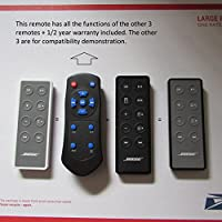 Remote control for the Bose SoundDock series II , III & 10 Direct replacement HAS AUX Button for aux inputs
