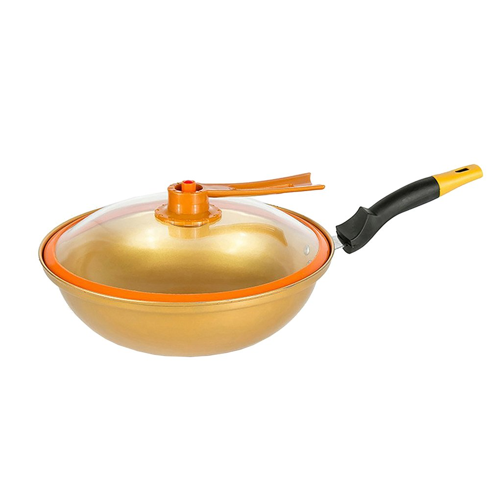 Tayama TWG-32 Non-Stick Ceramic Golden Wok 32cm Gold