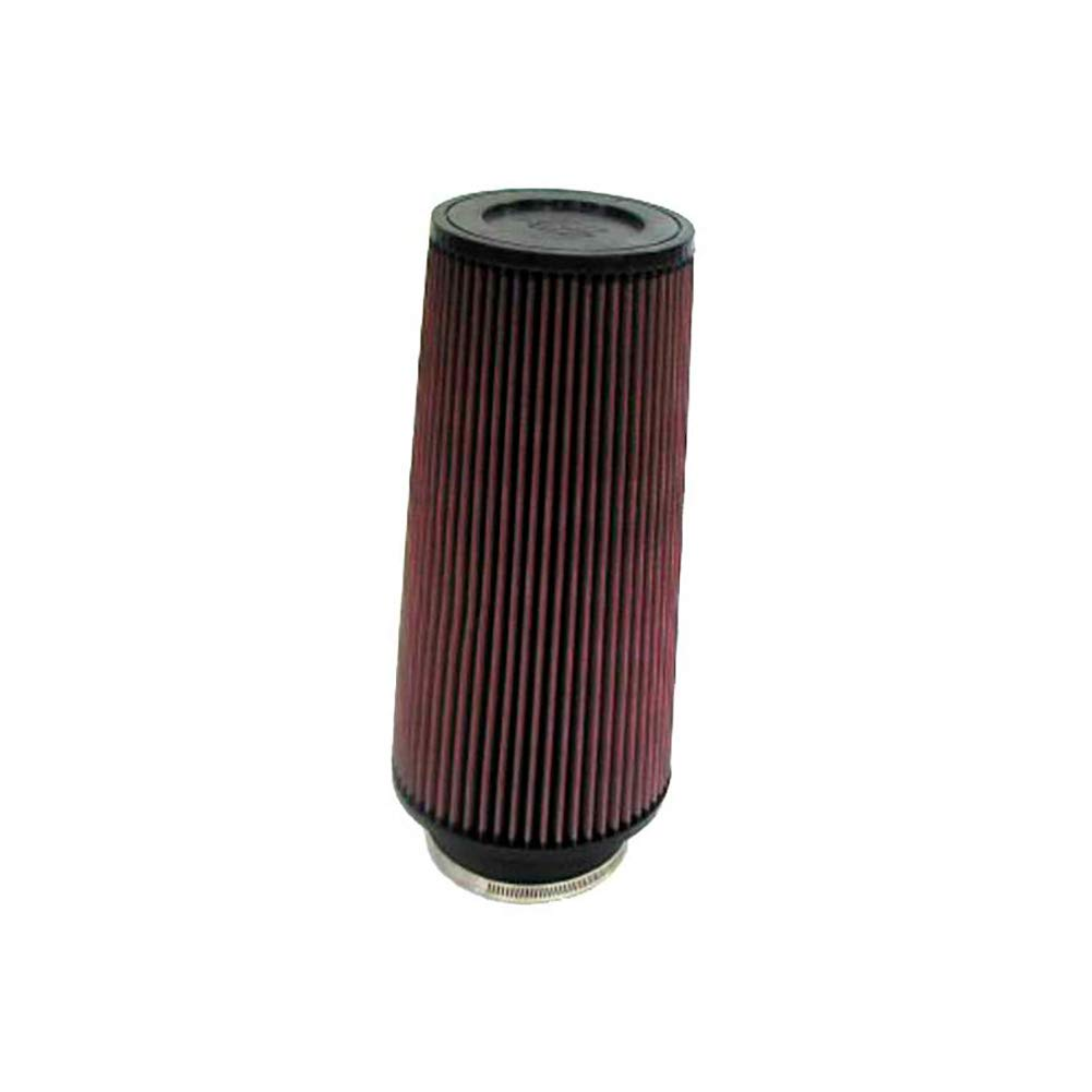 K&N Universal Clamp-On Engine Air Filter: Washable and Reusable: Round Tapered; 4 in (102 mm) Flange ID; 9 in (229 mm) Height; 6 in (152 mm) Base; 4.625 in (117 mm) Top , RE-0870 by K&N