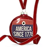 Christmas Decoration America Since 1776 Fourth of July Patriotic Star Ornament