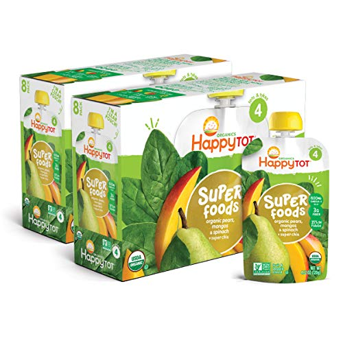 Happy Tot Organic Stage 4 Super Foods Pears Mangos