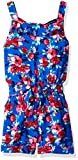 French Toast Girls' Little Printed Romper, Princess Blue, 5