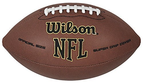 Official NFL Football Ball Super Grip Wilson Leather Composite Size 9 Game Klds by Wilson