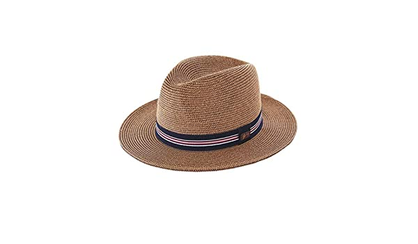 0b1a67f46 Bailey Men's Straw Hester Fedora Hat Brown at Amazon Men's Clothing ...