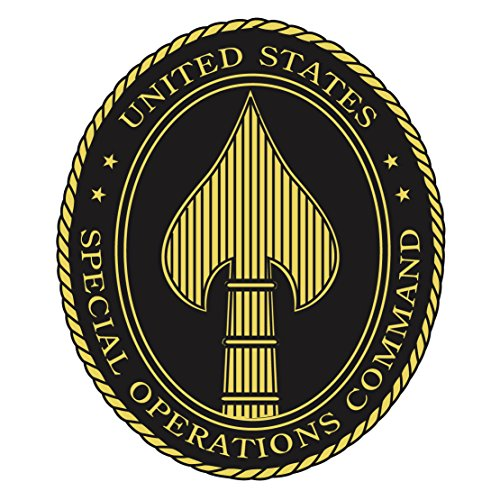US Army - Special Operations Command Insignia Patch Decal - 3.5 Inch Tall Full Color Decal, Sticker (Navy Operations Special)