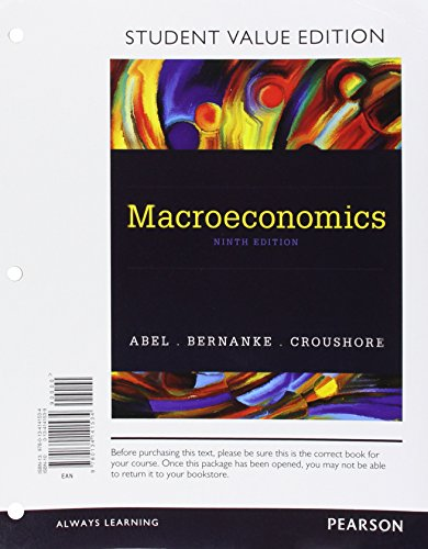 Macroeconomics, Student Value Edition (9th Edition)