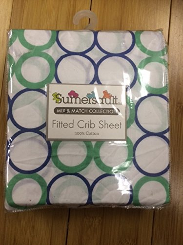 2 for $9.99 Sumersault Fitted Crib Sheet in Multicolor Mix & Match Collection 100% Cotton