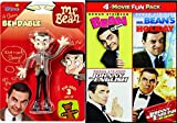 The incomparable Rowan Atkinson stars in the 4 Comedy Pack Mr. Bean's Holiday / Bean The Movie / Spy Johnny English / Reborn + Funny Man Bendable Silly Toy Figure