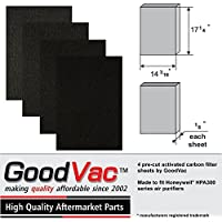 4 Activated Carbon Pre-filters. Pre-cut To fit Honeywell HPA300 ( HPA 300 ) Series Air Purifiers. Made in USA by GoodVac (1)