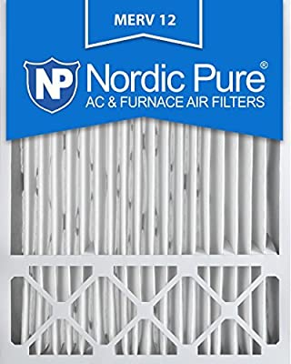 Nordic Pure 20x25x5 Honeywell Replacement AC Furnace Air Filters, MERV 12 (Box of 2) by Nordic Pure