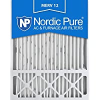 20x25x5 Honeywell Replacement MERV 12 Furnace Air Filter Qty 4 by Nordic Pure