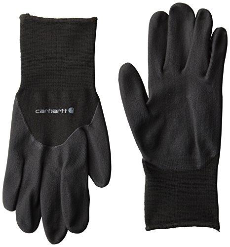 Foam Knit Glove - Carhartt Men's Full Coverage Micro Foam Nitrile Dipped Glove, Black, Small