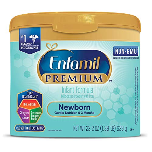Enfamil Newborn Premium Infant Formula (4 Pack) Powder 22.2 Ounce Reusable Tub