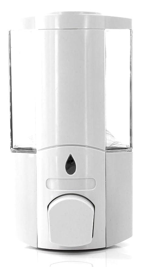 Dispensador de pared para jabón líquido 400 ml, dispensador jabón manual, recipiente elegante para