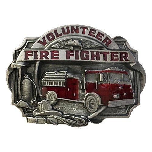 Firefighter Belt Buckle (Buckle Barn Volunteer Fire Fighter Belt Buckle - S-V85EBB)